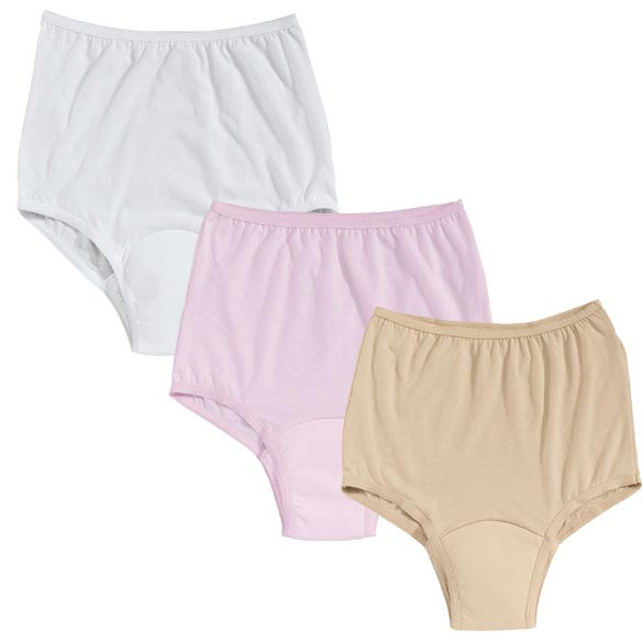 Colored Incontinence Panties - Pack Of 3