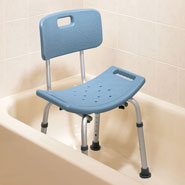 Bathroom Safety - Shower Chair With Back