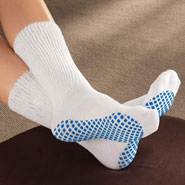 Hosiery - Diabetic Slipper Socks With Gripper Soles