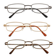 Reading Aids - Spring Hinge Reading Glasses - Set of 3