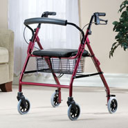 Mobility Aids - Walkabout Wide 4 Wheeled Walker