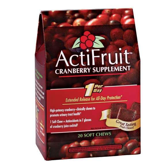 ActiFruit™ Cranberry Supplement Chews