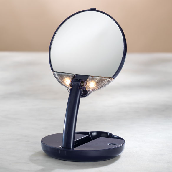 Lighted Travel Makeup Mirror 15x Magnifying Mirror