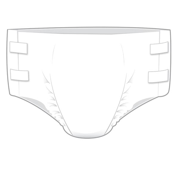 At Ease® Men's Disposable Briefs - Case