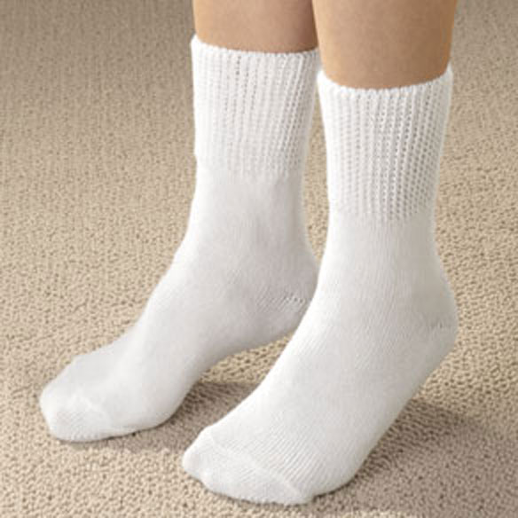 Extra-Wide Diabetic Ankle Socks - View 1