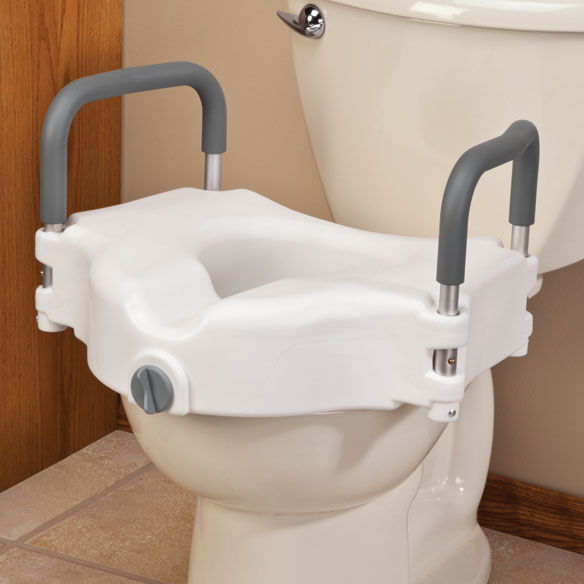 Locking Raised Toilet Seat With Arms Toilet Aids Easy