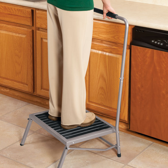 Folding Step Stool with Handle - View 1