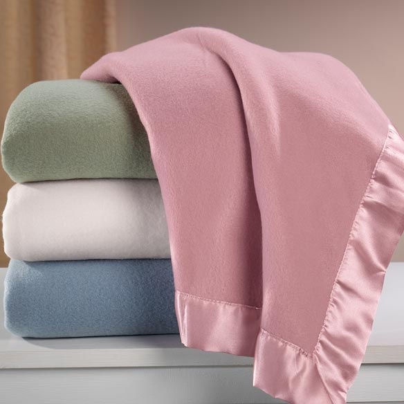 Satin Fleece Blanket by OakRidge Comforts™