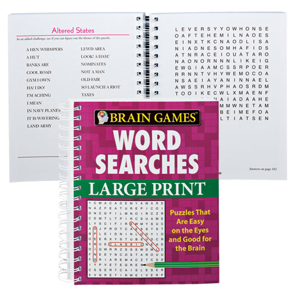 graphic relating to Large Printable Word Search named Enormous Print Phrase Look E-book