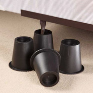 Bedroom - Black Bed Risers - Set of 4