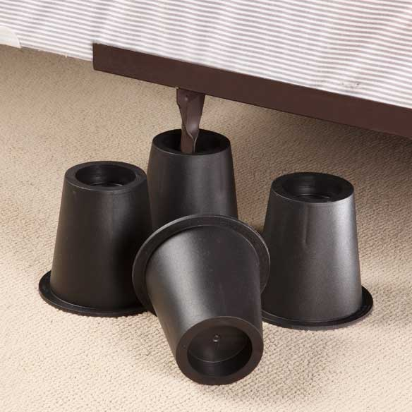 Black Bed Risers - Set of 4