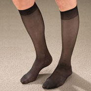 Hosiery - Knee High Support Hose For Women - 9 Pack