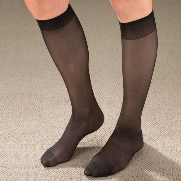Knee High Support Hose For Women - 9 Pack