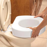 Adaptive Aids - Quick Lock Raised Toilet Seat