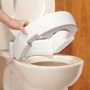 Bathroom - Hinged Raised Toilet Seat