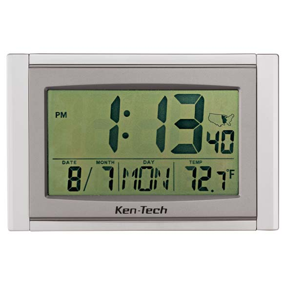 Large LCD Atomic Clock