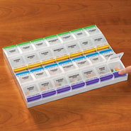 Medicine Storage - Push Button Pill Organizer