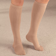 Hosiery - Ribbed Compression Socks - 15–20 mmHg