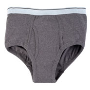 Incontinence Briefs For Men - 20 Oz. Gray