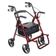 Adaptive Equipment - Transport Chair And Rollator In 1
