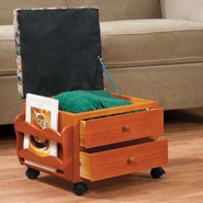 Furniture - Multi Storage Rolling Ottoman by OakRidge™ Accents