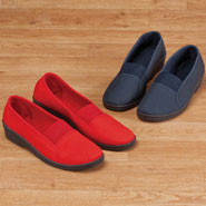 Footwear Collection - Comfort Fit Elastic Slip Ons