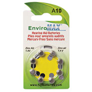 Hearing Loss - Fuji EnviroMax A10 Hearing Aid Batteries - 8-Pack