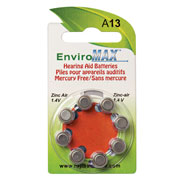 Sound Amplifiers - Fuji EnviroMax™ A13 Hearing Aid Batteries, 8 Pack