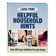 "Hobbies & Books - Large Print ""Helpful Household Hints"" Book"