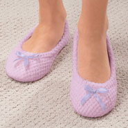 Fleece Apparel & Slippers - Chenille Ballet Slippers