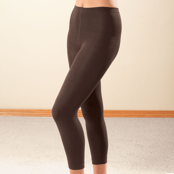Footless Fleece-Lined Tights - 2 Pairs