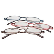 Vision Loss - Colorful Metal Readers - 3-Pack