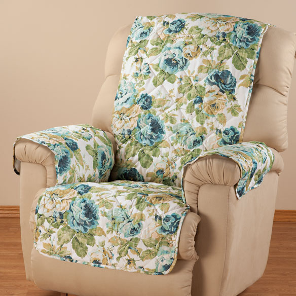 English Floral Microfiber Recliner Cover - View 1