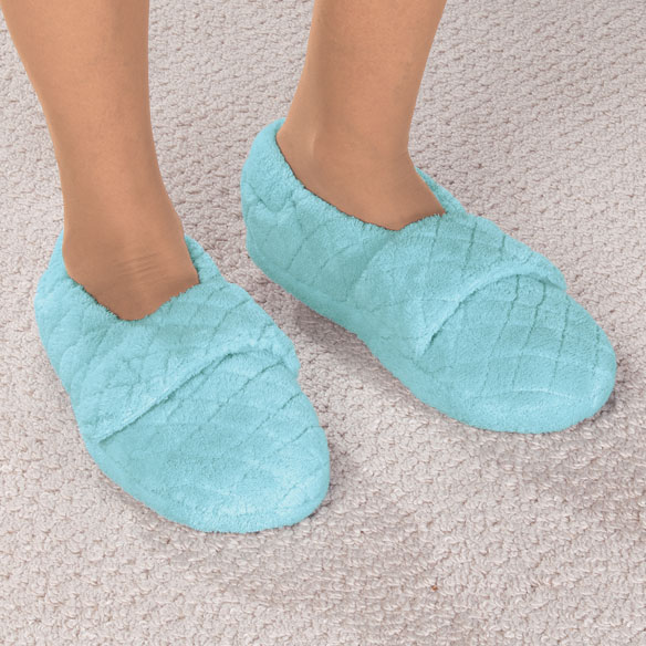 Chenille Stretch Slippers - View 1
