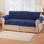 Home Comforts - Sherpa Loveseat Protector by OakRidge Comforts™