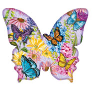 Brain Health - Butterfly Garden Shaped Puzzle - 640 Pieces
