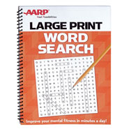 Brain Health - AARP Large Print Word Search