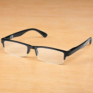 Vision Loss - Black Half Rim Readers