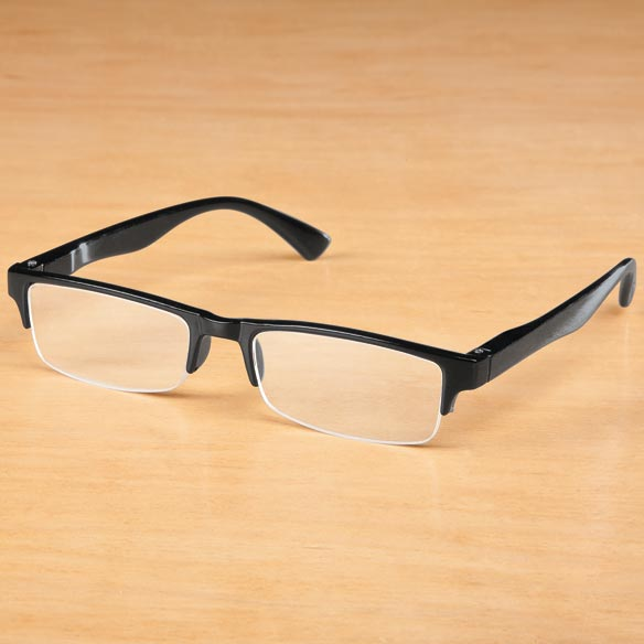 Black Half Rim Readers