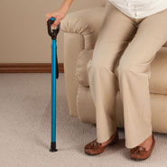Walking Aids - One Touch Stepless Height Adjustable Cane