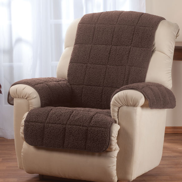 Waterproof Quilted Sherpa Recliner Protector by OakRidge™ Comforts - View 1