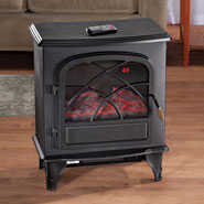 Furniture - Fireplace Heater with Remote