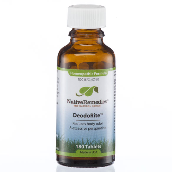 NativeRemedies® DeodoRite™ - 180 Tablets