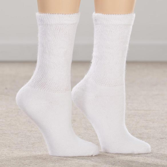 Silver Steps™ 3 Pack Extra Plush Diabetic Socks - View 1