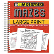 Brain Health - Brain Games™ Large Print Mazes