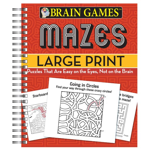 Brain Games™ Large Print Mazes