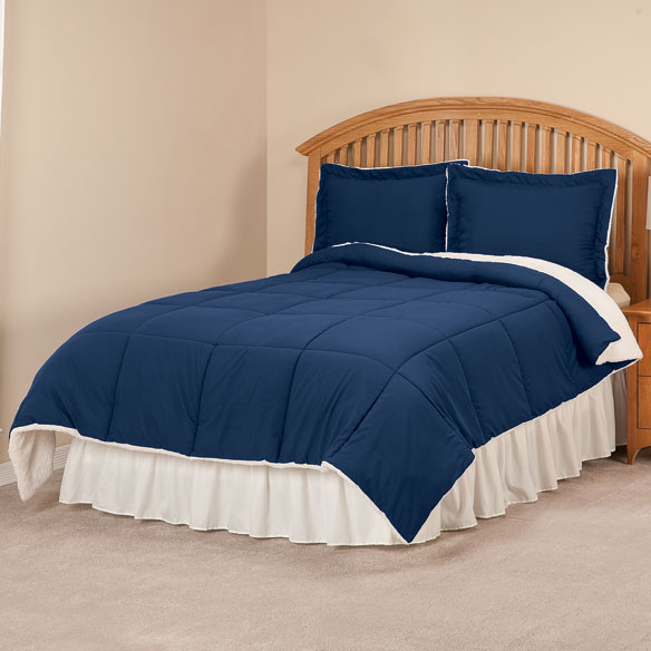 Sherpa Lined Alternative Down Comforter with Shams by OakRidge™ - View 1
