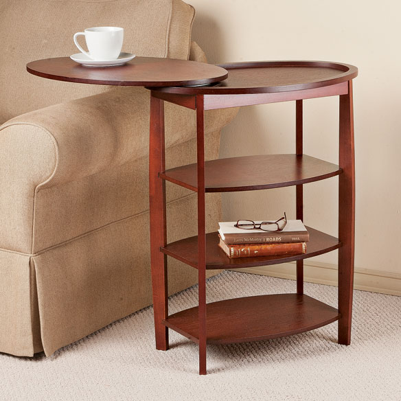 Wooden Swivel Table by OakRidge Accents™ - View 1