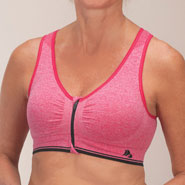 Clearance - Easy Comforts Style™ Zipper Sports Bra with Removable Padding