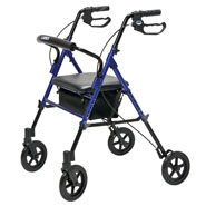 Walkers & Rollators - Wide Height-Adjustable Rollator